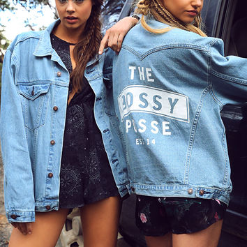 Bossy The Label - Bossy Posse Jacket - Denim