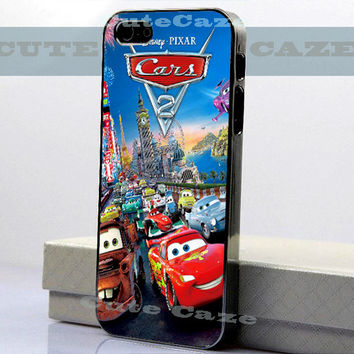 Disney PIXAR-Cars-Lightning McQueen-Big Ben Tower - iPhone 4/4S Case - iPhone 5 Case - Samsung Galaxy S3 case - Samsung Galaxy S4 case