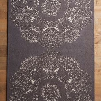 Doily Rug by Anthropologie in Dark Grey Size: