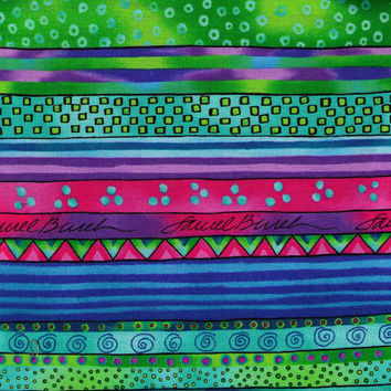 Laurel Bunch Fabric - Fancy Cotton Fabric - by the yard - Stripe Fabric