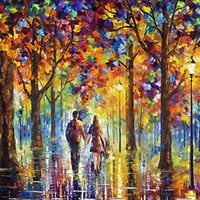 "Lovers —  Oil Painting On Canvas By Leonid Afremov. Size: 36""x48"" Romantic art"