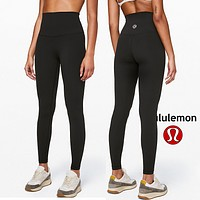 Lulu Lemon Women Fashion Sport Trouser Yoga Pants Girls Legging high elasticity Classic little black pants