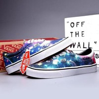 VANS Canvas Old Skool Galaxy Print Flats Sneakers Sport Shoes