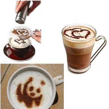 16 Pcs  Stencil Coffee Maker