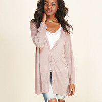 Slub Knit Boyfriend Cardi | Wet Seal