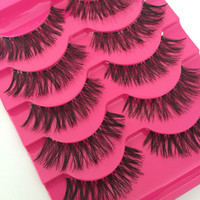 5 Pairs Handmade Long Eye Lashes Fake False Eyelashes