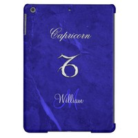 Blue Zodiac Sign Capricorn iPad Air Case