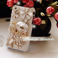 iphone 5 case  iphone 4 case  bling iphone by iPhoneCasesFancylucy
