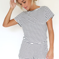 Stripey Playsuit | SABO SKIRT