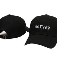Kanye West WOLVES Black Dad Hat