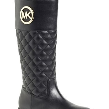 Girl's MICHAEL Michael Kors 'Emma Lux' Tall Boot,