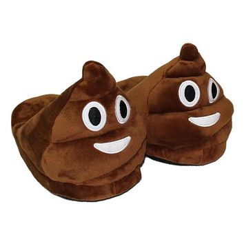 Halloween 25cm Winter Thick Soft Plush Emoji Kids Slipper Home Indoor Slipper Casual Flat Shoes for 7-12 Years Boy Girl Children