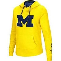 NCAA Michigan Wolverines Women's Inward Crossover Neck Hoodie