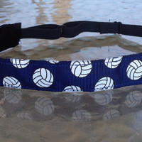 Volleyball headbands, Navy Blue Volleyball non slip headband adjustable size