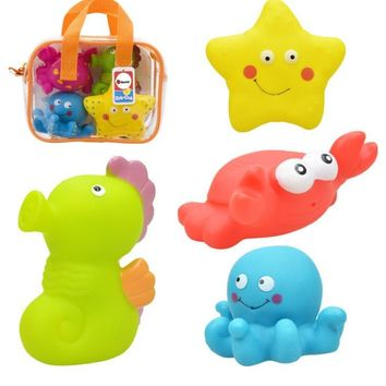 Transportations/ cute animals  baby bath toy spray water bathroom toy Squeeze Water toy free shipping