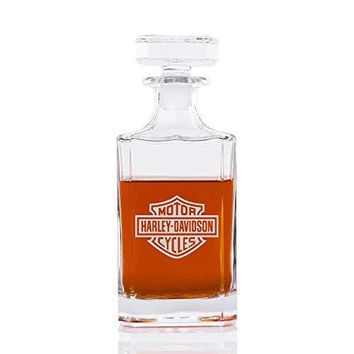 Classic Whiskey Decanter - Motorcycle Club - Engraved