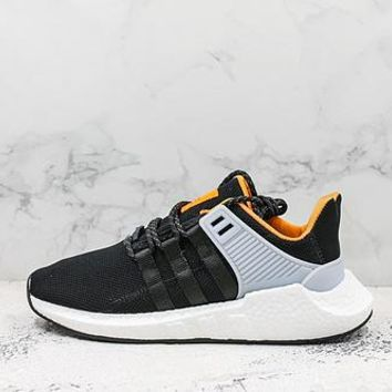 Adidas Eqt Support Future Boost 93/17 Black White Orange Running Shoes - Best Deal Online