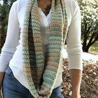 Double Stitch Infinity Scarf