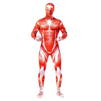 Cool Attack on Titan  Colossal  Cosplay Costumes Adult Lycra Spandex Full Zentai Bodysuits Men Muscle Suit Spandex Catsuits AT_90_11