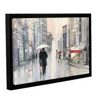 Spring Rain New York Framed Painting Print