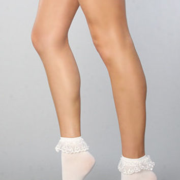 The Prissy Lace Ruffle Socks