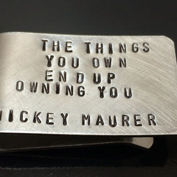 SALE: Personalized Hand Stamped Money Clip - Silver Stamped Money Clip