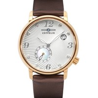 Zeppelin Luna Automatic Rose Gold Silver Dial Ladies Watch 7682-4