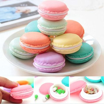 Hot Fashion Sweet Macarons Storage Box Candy Color For Jewelry Earring Outing Boxes