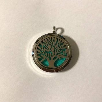 SS Diffuser Necklace- Tree