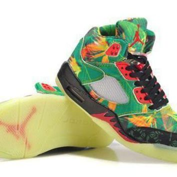 Hot Air Jordan 5 Women Shoes Maple Leaf From China