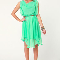 Life Can Be Ruffles Mint Green Midi Dress