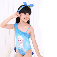 Blue Elsa Swimsuit