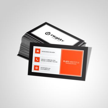 ORANGEY METRO STYLE (INK-BC-188) BUSINESS CARD