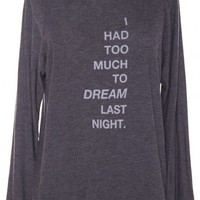 TOO MUCH TO DREAM SWEATER by GOOD HYOUMAN