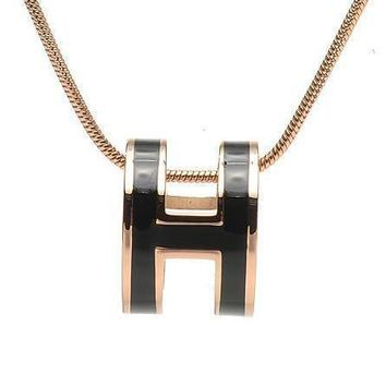 Hermes Woman Fashion Logo Plated Necklace For Best Gift-3