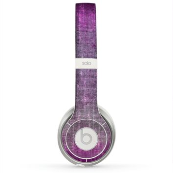 The Grunge Dark Pink Texture Skin for the Beats by Dre Solo 2 Headphones