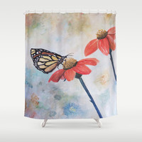 MONARCH Shower Curtain by  RokinRonda