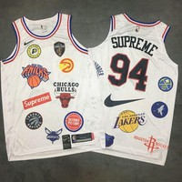 Supreme X Nike 18ss NBA Teams White Jerseys - Best Deal Online