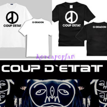 G-DRAGON GD BIGBANG COUP D'ETAT T-SHIRTS KPOP NEW