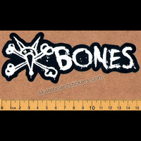 Bones Wheels Skateboard Sticker - Vato Text