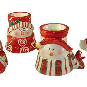 72 Snowman Candle Holders - Each Holds 1 Taper Candle - Not Included