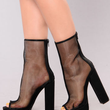 Mesh Me Up Bootie - Black