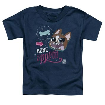 Littlest Pet Shop Toddler T-Shirt Bone Appetit Navy Tee