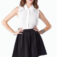 Letta Skirt in Black - ShopSosie.com