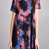 ZZZ - TIE DYE SWING DRESS