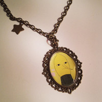 Adventure Time Lemongrab Cameo Necklace by RabbitJewellery on Etsy