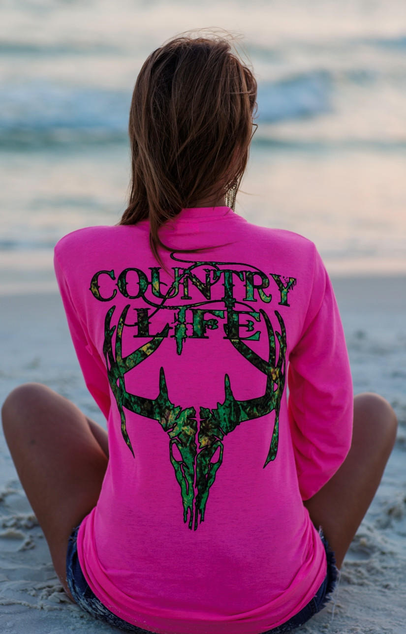 country life outfitters pink camo from simply cute tees. Black Bedroom Furniture Sets. Home Design Ideas