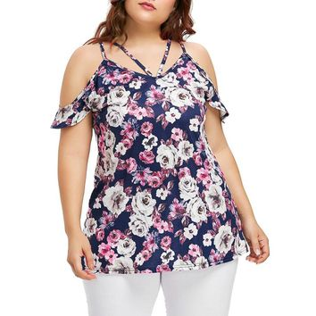 4XL plus Size Fashion Women Short Sleeve Tops