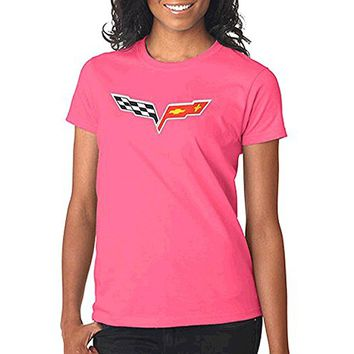 Corvette C6 Ladies Pink T-Shirt