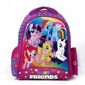 Cartoon my little pony children school bags for girls lovely backpack kid schoolbag boys minions child mochila escolar infantil